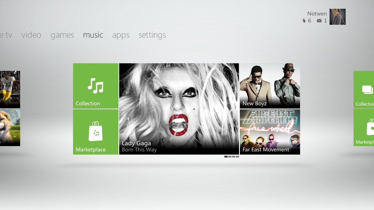 Nouvelle interface Xbox 360 XboxDashboard6