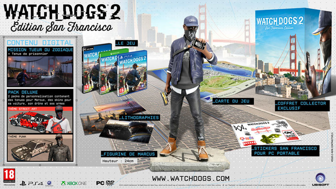 Watch Dogs 2 Official Playstation Store Pre Order: Watch Dogs 2 : 6 éditions Différentes Disponibles En