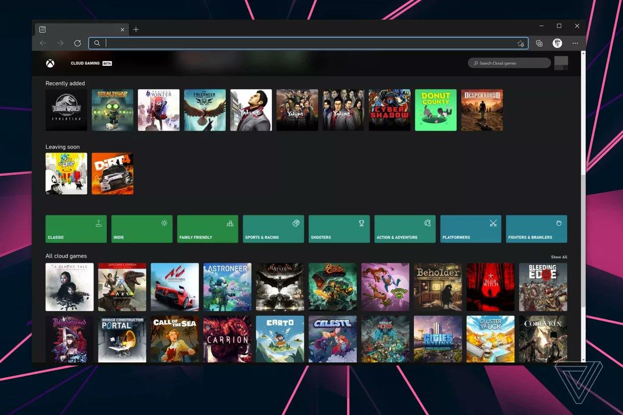 Le cloud gaming Xbox sur PC se montre avec xCloud via navigateur web - Xboxygen