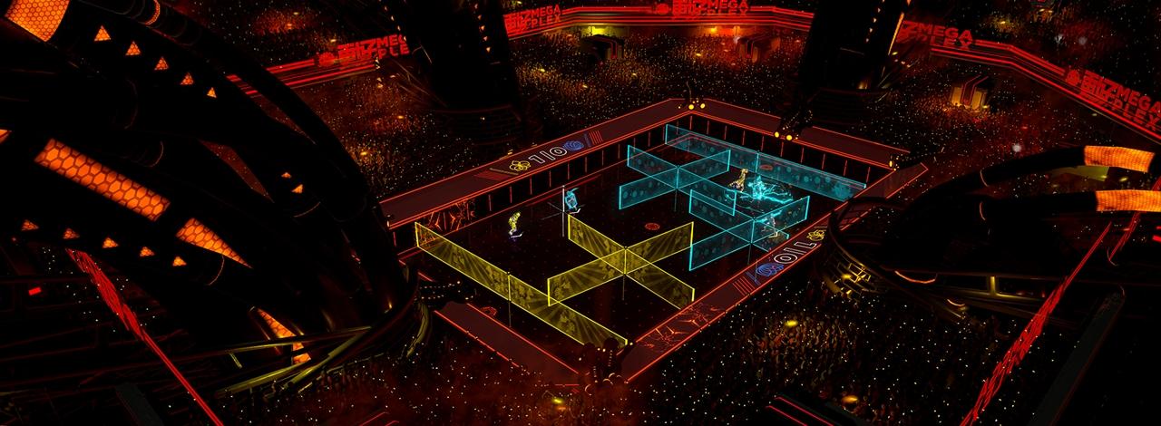laser league un nouveau jeu d arcade par les cr ateurs de not a hero et olliolli xbox one. Black Bedroom Furniture Sets. Home Design Ideas