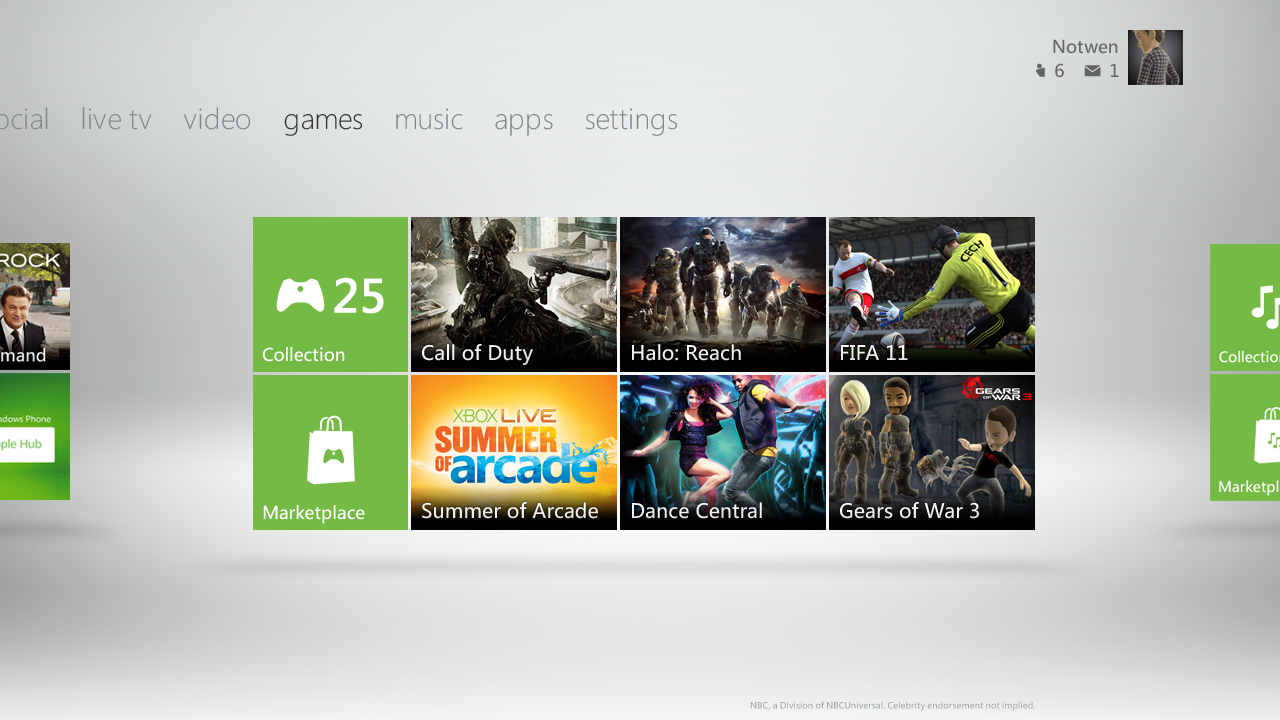 Nouvelle interface Xbox 360 XboxDashboard2
