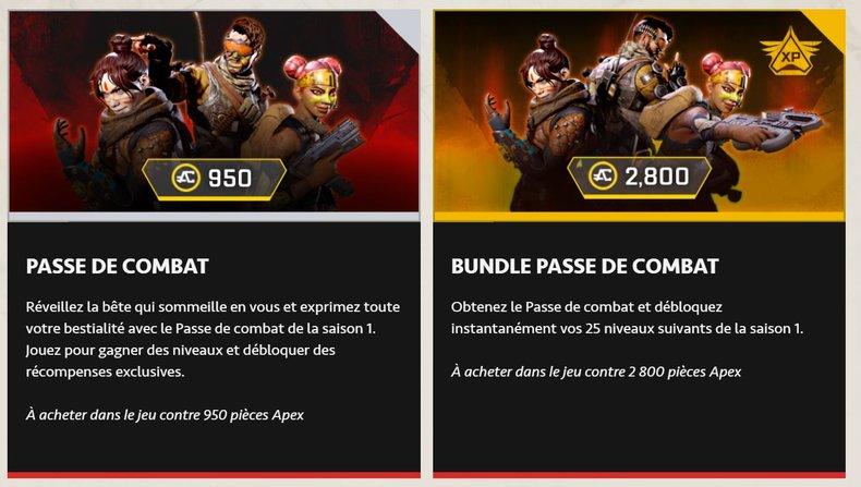 Découvrez tous les détails du Passe de Combat saison 1 d'Apex Legends