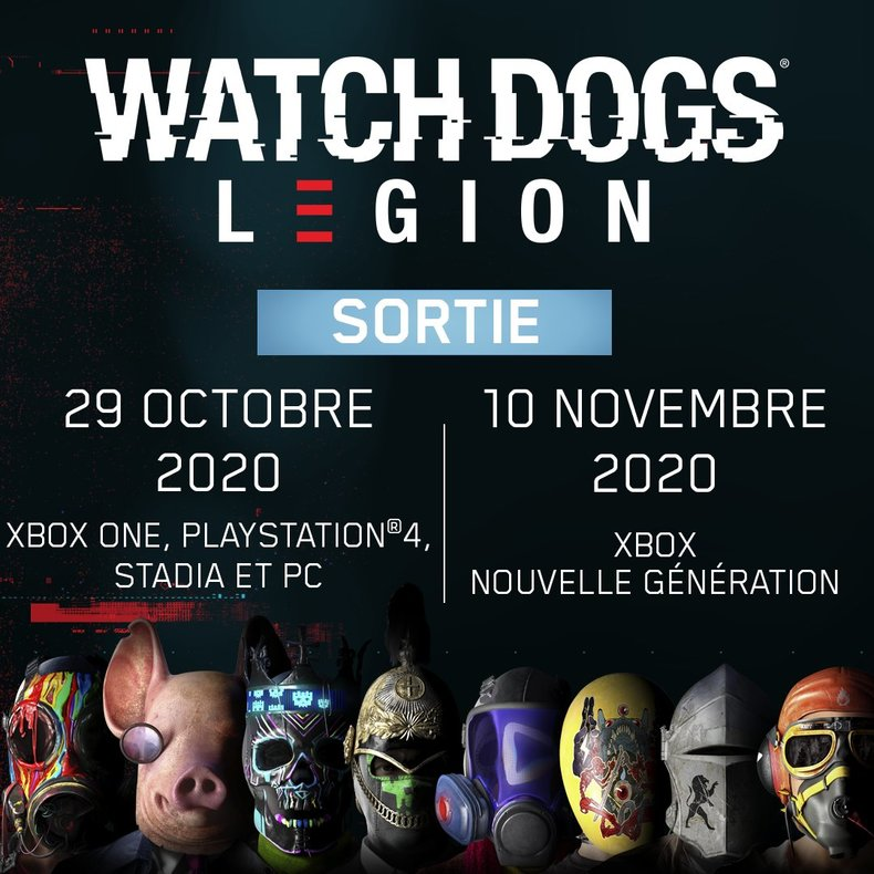 Watch Dogs Legion : sortie le 10 novembre sur Xbox Series X | S